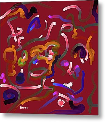 Red Musing Metal Print by Robert Henne