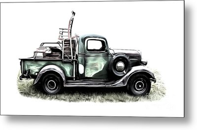 Red Neck Moving Day Metal Print by Edward Fielding