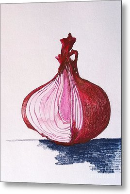 Red Onion Metal Print by Sheron Petrie