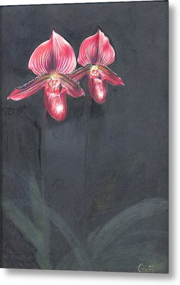 Red Orchids Metal Print