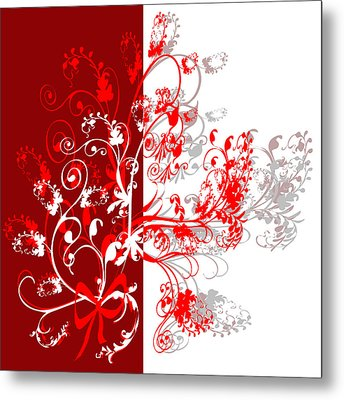 Red Ornament Metal Print by Svetlana Sewell