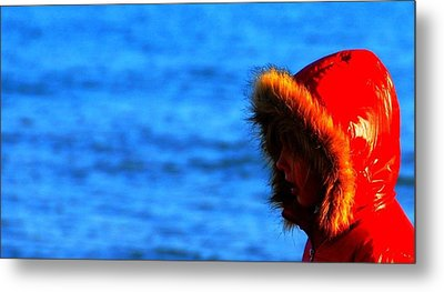 Metal Print featuring the photograph Red Parka by Votus