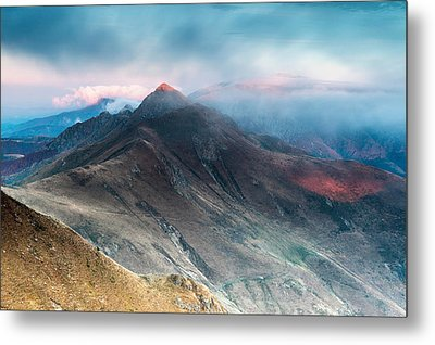 Red Peak Metal Print