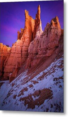 Red Peaks Metal Print by Edgars Erglis