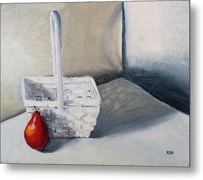 Red Pear Metal Print