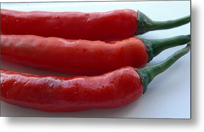 Red Peppers Metal Print by Tropical Ties Dominica