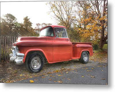 Red Pick-up Metal Print