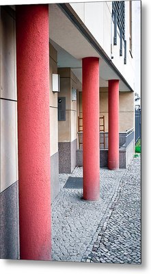 Red Pillars Metal Print