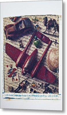 Red Plane Metal Print by Garry Gay