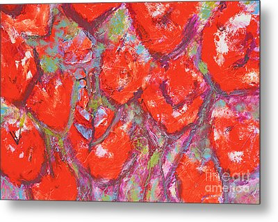 Red Poppies Metal Print by Gallery Messina