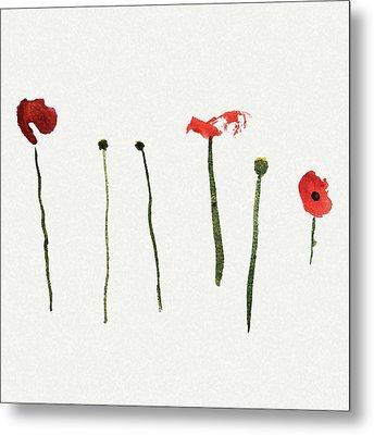 Red Poppies Metal Print by Stephanie Peters