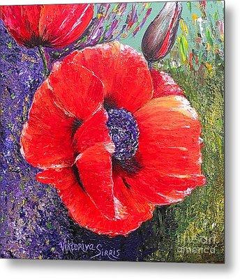 Red Poppies Metal Print by Viktoriya Sirris