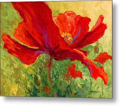 Red Poppy I Metal Print by Marion Rose