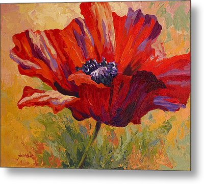 Red Poppy II Metal Print by Marion Rose