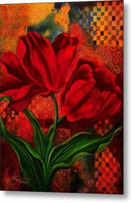 Red Poppy Metal Print by Lynn Lawson Pajunen