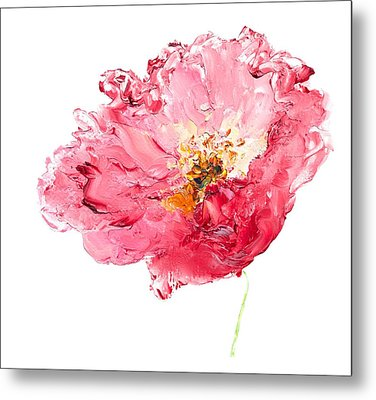 Red Poppy Painting Metal Print by Jan Matson