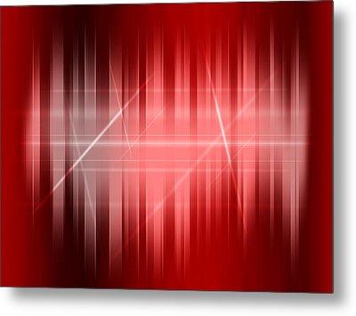 Red Rays Metal Print