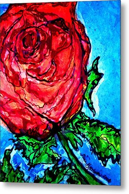 Red Red Rose Metal Print by Laura  Grisham