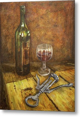 Red Red Wine Metal Print by Marty Garland