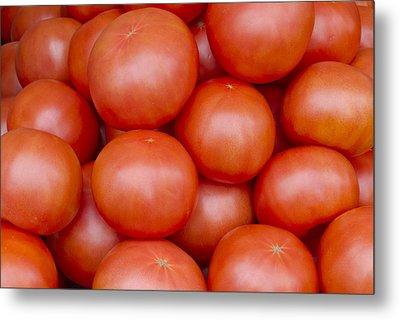 Red Ripe Tomatoes Metal Print by John Trax