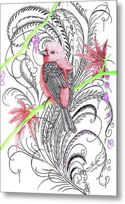 Red Robin Metal Print by Dwayne  Hamilton