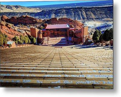 Red Rock Amphitheater Metal Print by Barry Jones