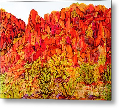 Red Rock Canyon Veiw From The Loop Metal Print by Vicki  Housel