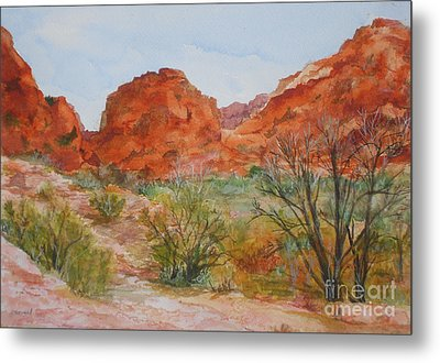 Red Rock Canyon Metal Print by Vicki  Housel