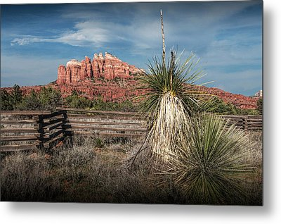 Metal Print featuring the photograph Red Rock Formation In Sedona Arizona by Randall Nyhof