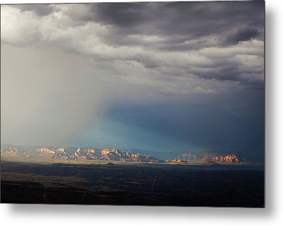 Metal Print featuring the photograph Red Rock Monsoon by Ron Chilston