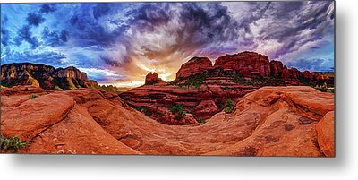 Metal Print featuring the photograph Red Rock Storm by ABeautifulSky Photography