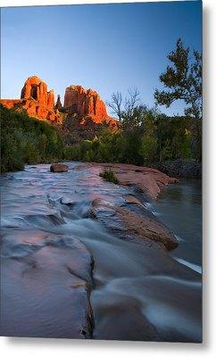 Red Rock Sunset Metal Print by Mike  Dawson