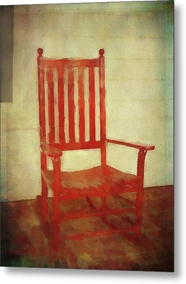 Metal Print featuring the photograph Red Rocker by Bellesouth Studio