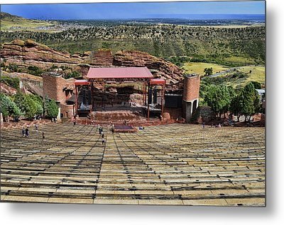 Red Rocks Ampitheatre Colorado - Photography Metal Print by Ann Powell