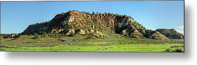 Red Roof Butte Metal Print by Todd Klassy