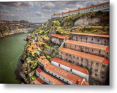 Red Roofs Of Porto Metal Print