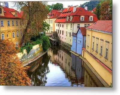 Red Roofs Of Prague Metal Print by Jay Lee