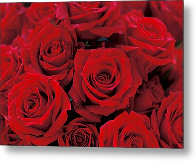Red Rose Bouquet Metal Print by Kathy Yates