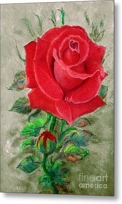 Red Rose Metal Print by Jasna Dragun