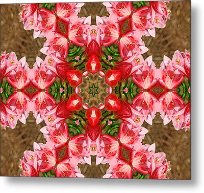 Metal Print featuring the photograph Red Rose Kaleidoscope by Bill Barber