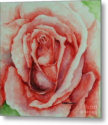 Red Rose Metal Print by Rachel Lowry