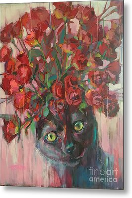 Red Roses Metal Print by Kimberly Santini
