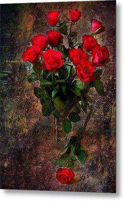 Red Roses Metal Print by Svetlana Sewell