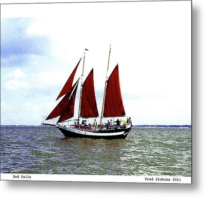 Red Sails Metal Print by Fred Jinkins