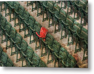 Red Seat At Fenway Park - Boston Metal Print