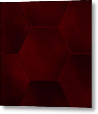 Red Sexagon Metal Print by Jouko Mikkola