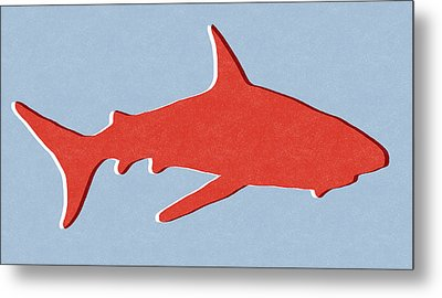 Red Shark Metal Print by Linda Woods