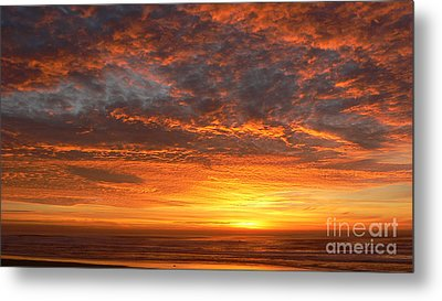 Red Skies At Night Metal Print
