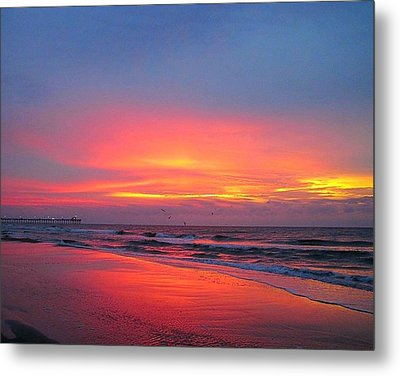 Red Sky At Morning Metal Print by Betty Buller Whitehead