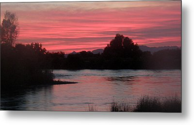 Metal Print featuring the photograph Red Sky At Night by Antonia Citrino